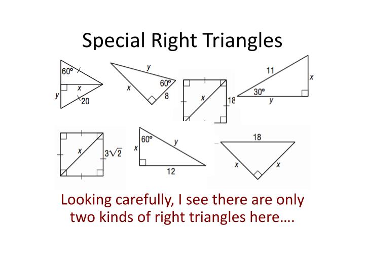 Special right triangles2