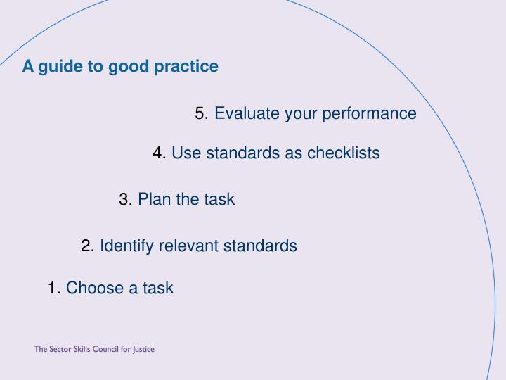 A guide to good practice