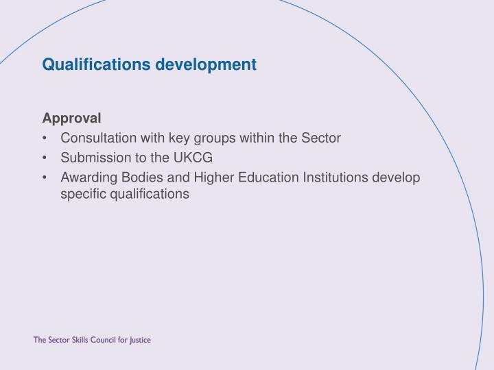 Qualifications development