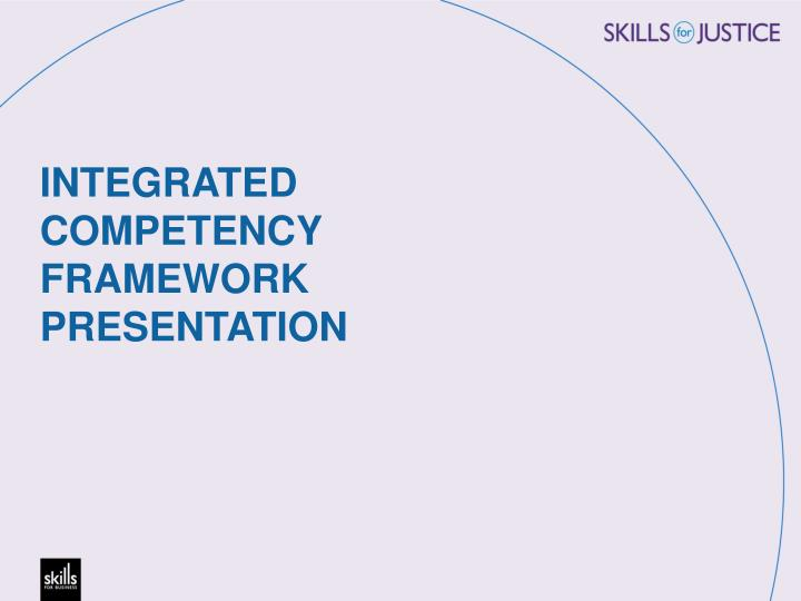 INTEGRATED COMPETENCY FRAMEWORK PRESENTATION