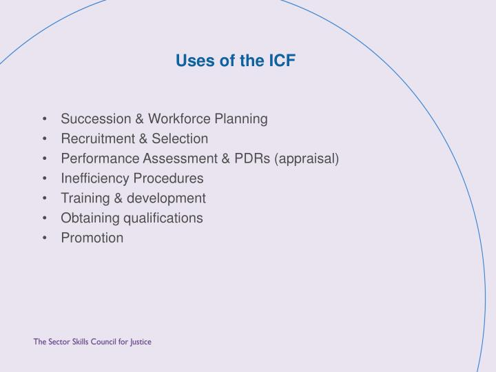 Uses of the ICF