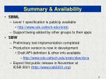 summary availability