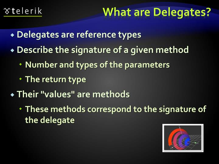 Delegates are reference types