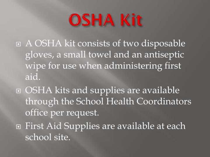 OSHA Kit
