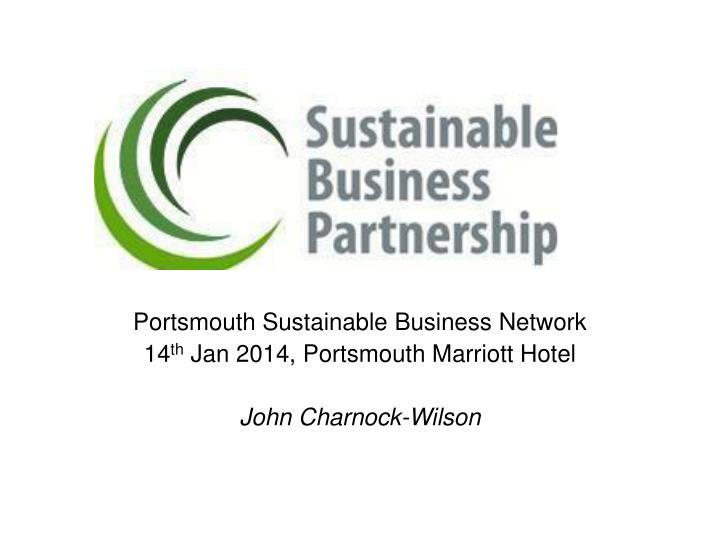Portsmouth Sustainable Business Network