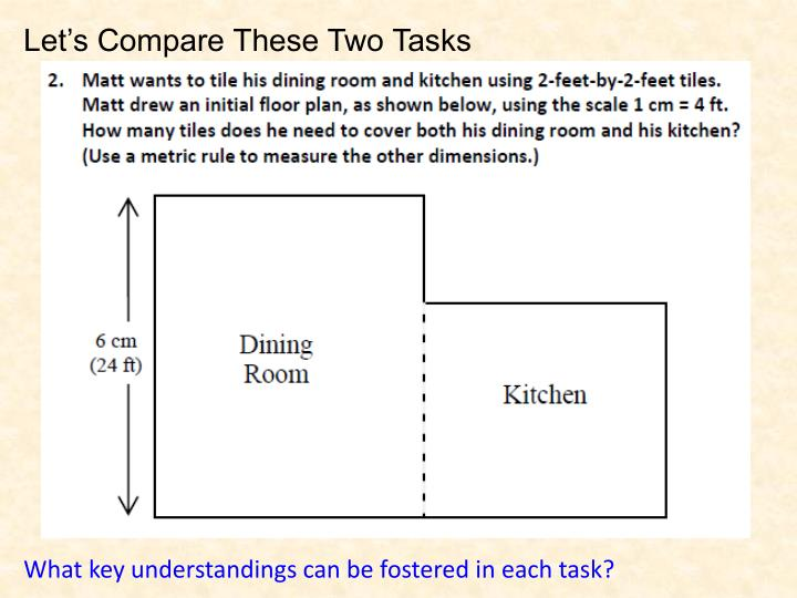 Let's Compare These Two Tasks