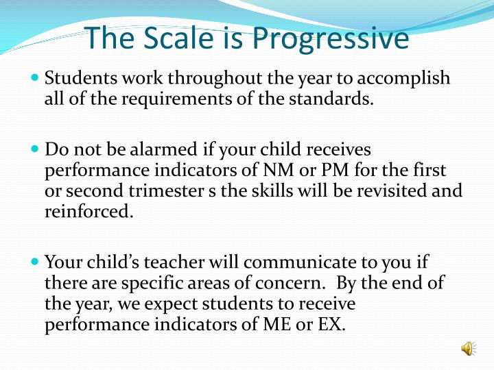 The Scale is Progressive