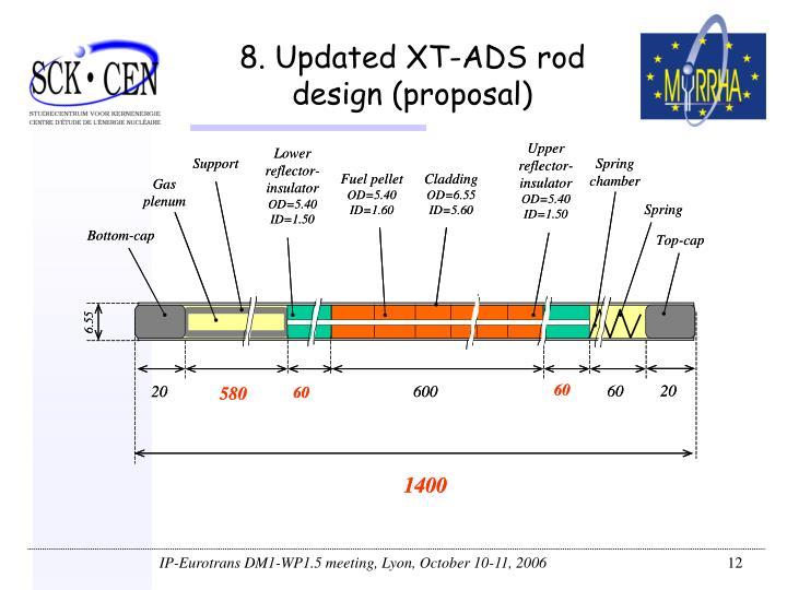 8. Updated XT-ADS rod design (proposal)