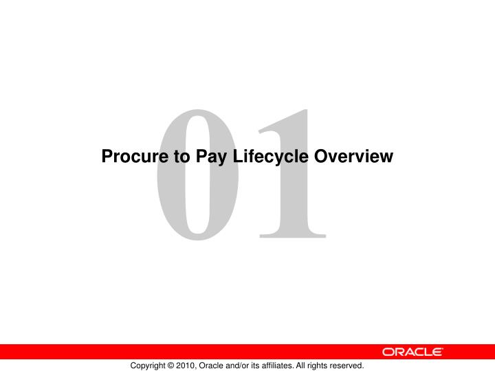 Procure to pay lifecycle overview