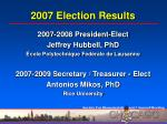 2007 election results