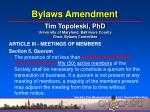 bylaws amendment