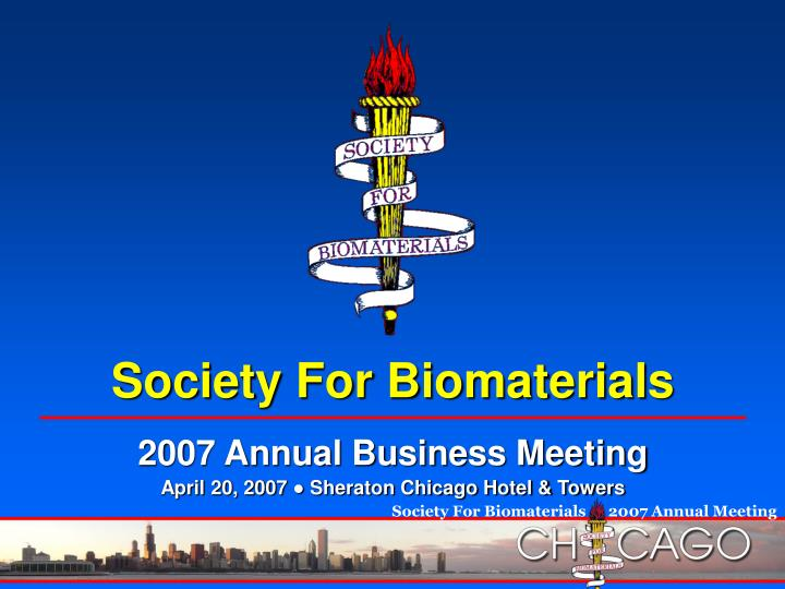 society for biomaterials n.