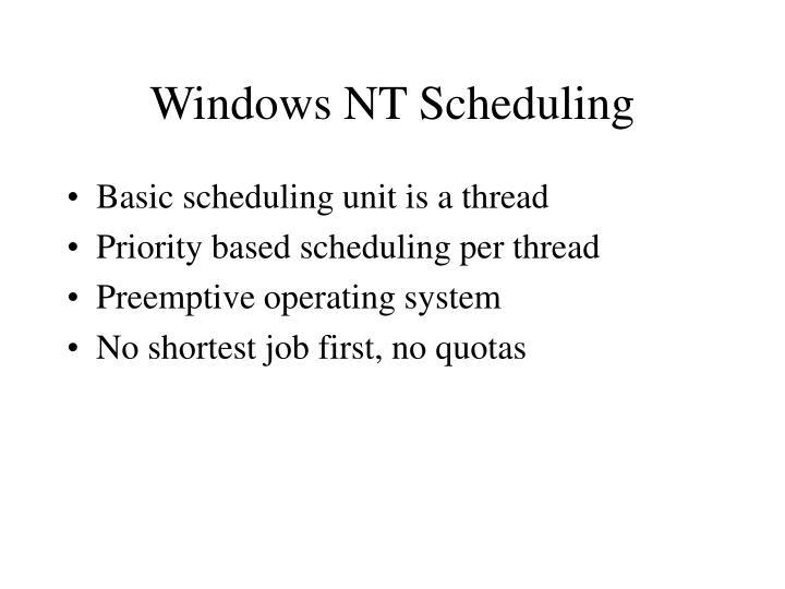 Windows NT Scheduling