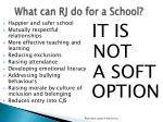 what can rj do for a school