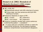 desmet et al 2002 reanalysis of mitchell brysbaert s 1998 corpus