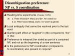 disambiguation preference np vs s coordination