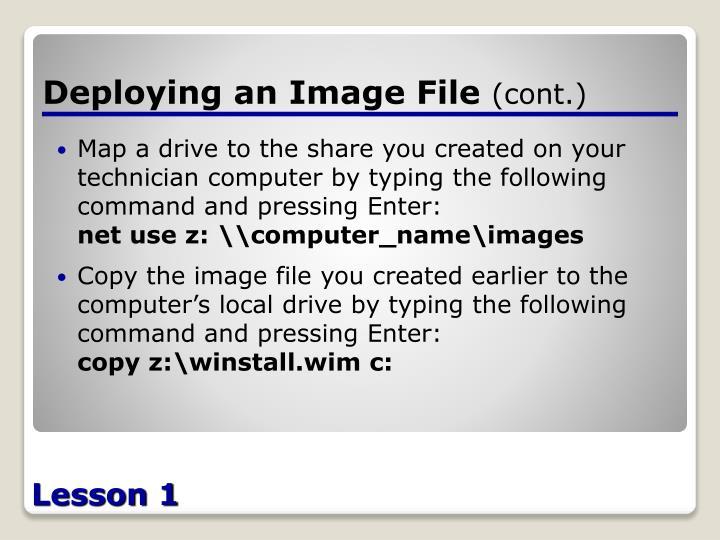 Deploying an Image File