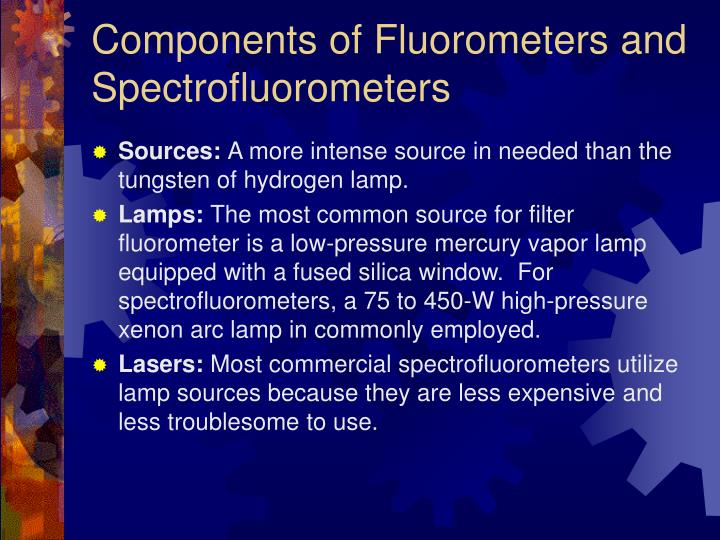 Components of Fluorometers and Spectrofluorometers