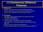 1 commercial offshore fisheries