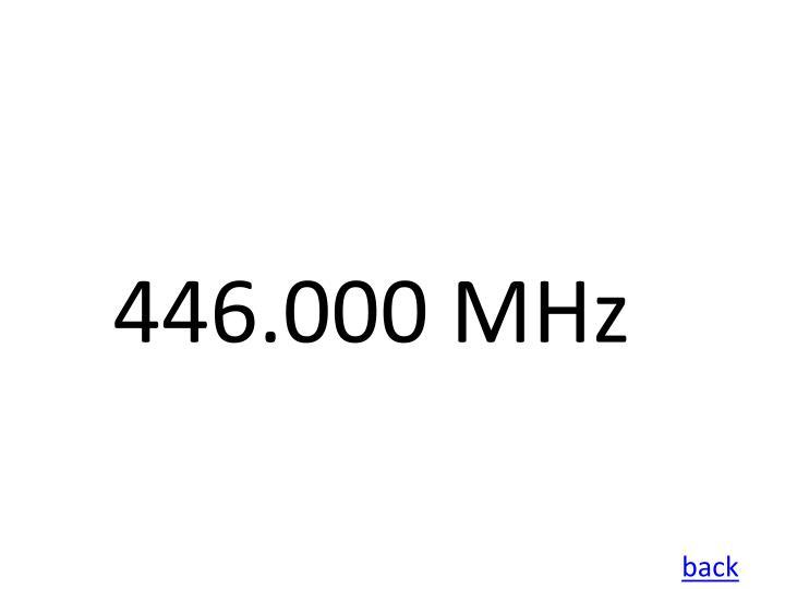 446.000 MHz