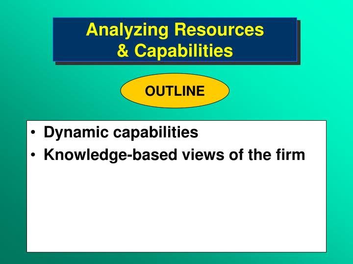 analyzing resources capabilities n.