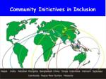 community initiatives in inclusion
