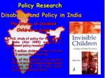 disability and policy in india