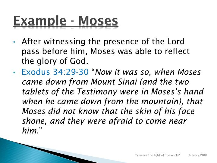 Example - Moses