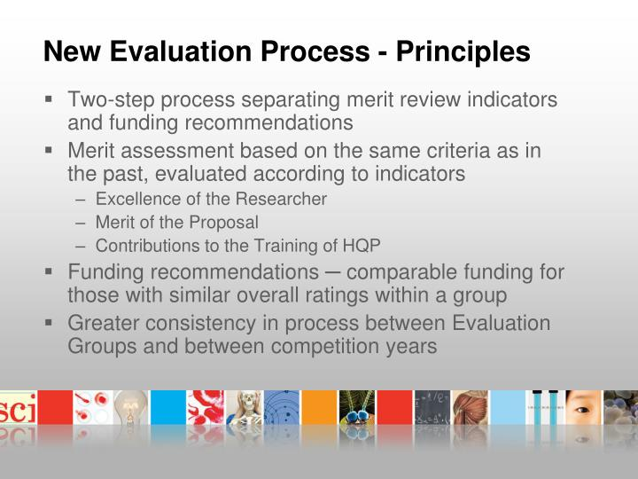 New Evaluation Process - Principles
