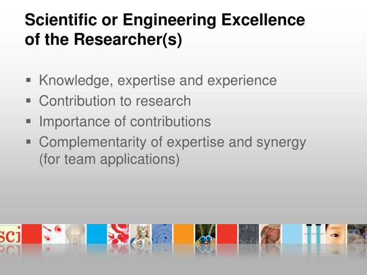 Scientific or Engineering Excellence