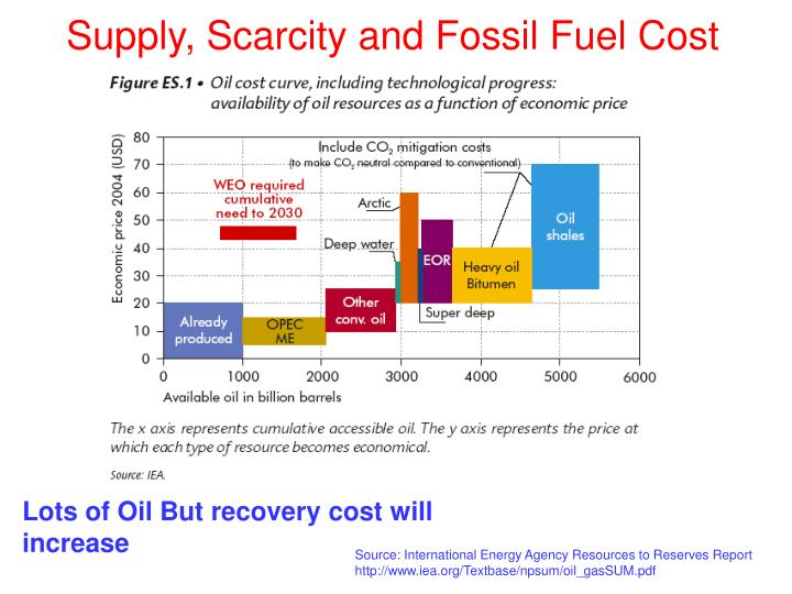 Supply, Scarcity and Fossil Fuel Cost