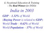 1 vocational education training the real winner for india