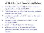 4 get the best possible syllabus