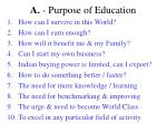 a purpose of education