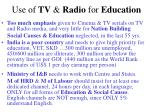 use of tv radio for education