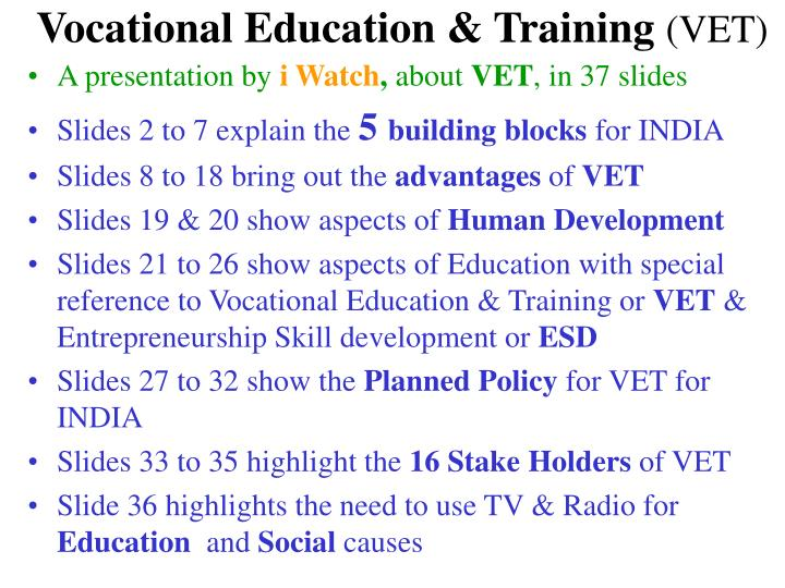 vocational education training vet