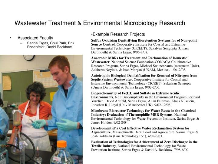 wastewater treatment environmental microbiology research n.