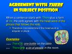 agreement with there in subject position