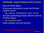 challenge asynchronous notification