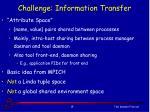 challenge information transfer