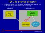 tdp job startup sequence3