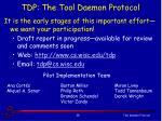 tdp the tool daemon protocol1