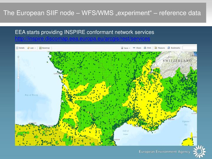 """The European SIIF node – WFS/WMS """"experiment"""" – reference data"""