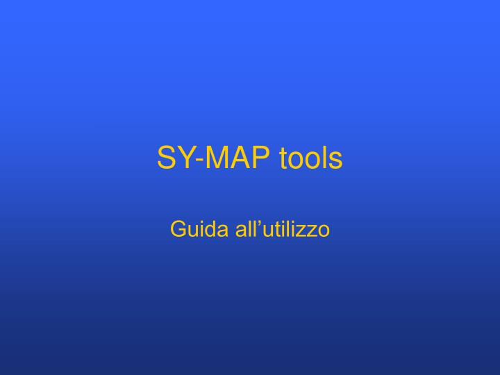 sy map tools n.