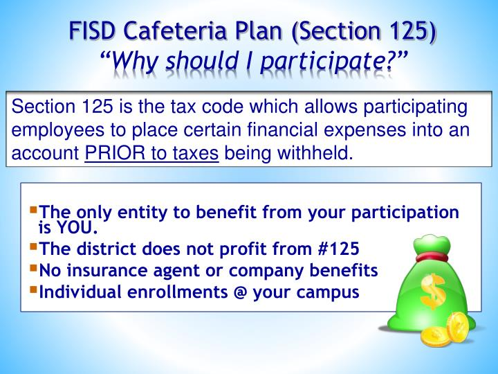 FISD Cafeteria Plan (Section 125)