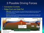 3 possible driving forces