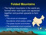 folded mountains
