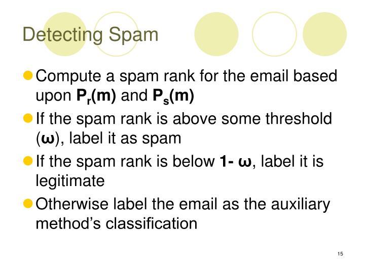 Detecting Spam