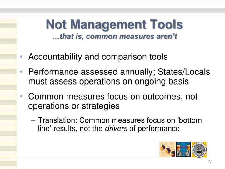 Not management tools that is common measures aren t