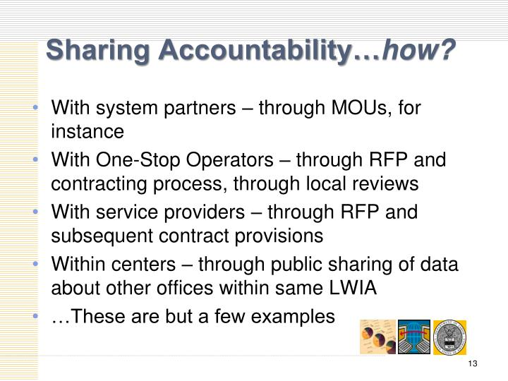 Sharing Accountability…